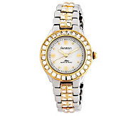 Armitron Womens Crystal-Accented Two-Tone Dress Watch - J302319