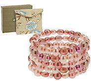Honora Cultured Pearl Set of 5 Stretch Bracelets - J317319
