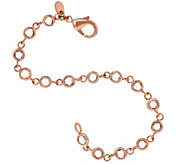 Bronze Bezel Set Faceted Crystal Bracelet by Bronzo Italia - J317619