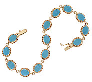 14K Gold 8 Sleeping Beauty Turquoise Bracelet, 11.0g - J319519