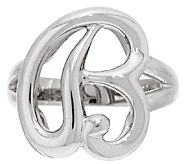 Sterling Silver Initial Ring By Silver Style - J320319