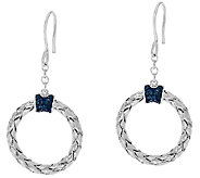 Circle Diamond Drop Earrings, Sterling, 1/5 cttw, by Affinity - J320719