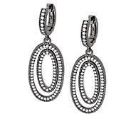 Judith Ripka Sterling 1.65 cttw Pave Diamonique Oval Drop Earrings - J321119