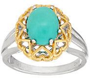 Sleeping Beauty Turquoise Sterling/14K Ring - J323019