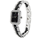 As Is Isaac Mizrahi Live! Ceramic and Crystal Bracelet Watch - J325119
