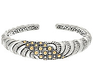 JAI Sterling & 14K Gold Andaman Sea Textured Cuff Bracelet - J326019