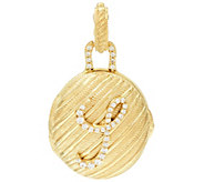 Judith Ripka Sterling & 14K Clad Diamonique Initial Locket Enhancer - J326519