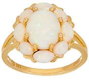 Australian Opal Floral Design Sterling/14K Ring - J327719
