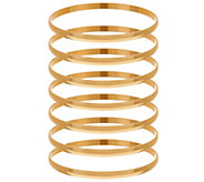 As Is Bronze Set of 7 Polished Round Bangles by Bronzo Italia - J328119