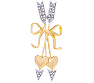 Joan Rivers Pave Hearts and Arrows Brooch - J331719