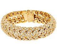 As Is Joan Rivers Estate Style Pave Basket Weave Bracelet - J332619