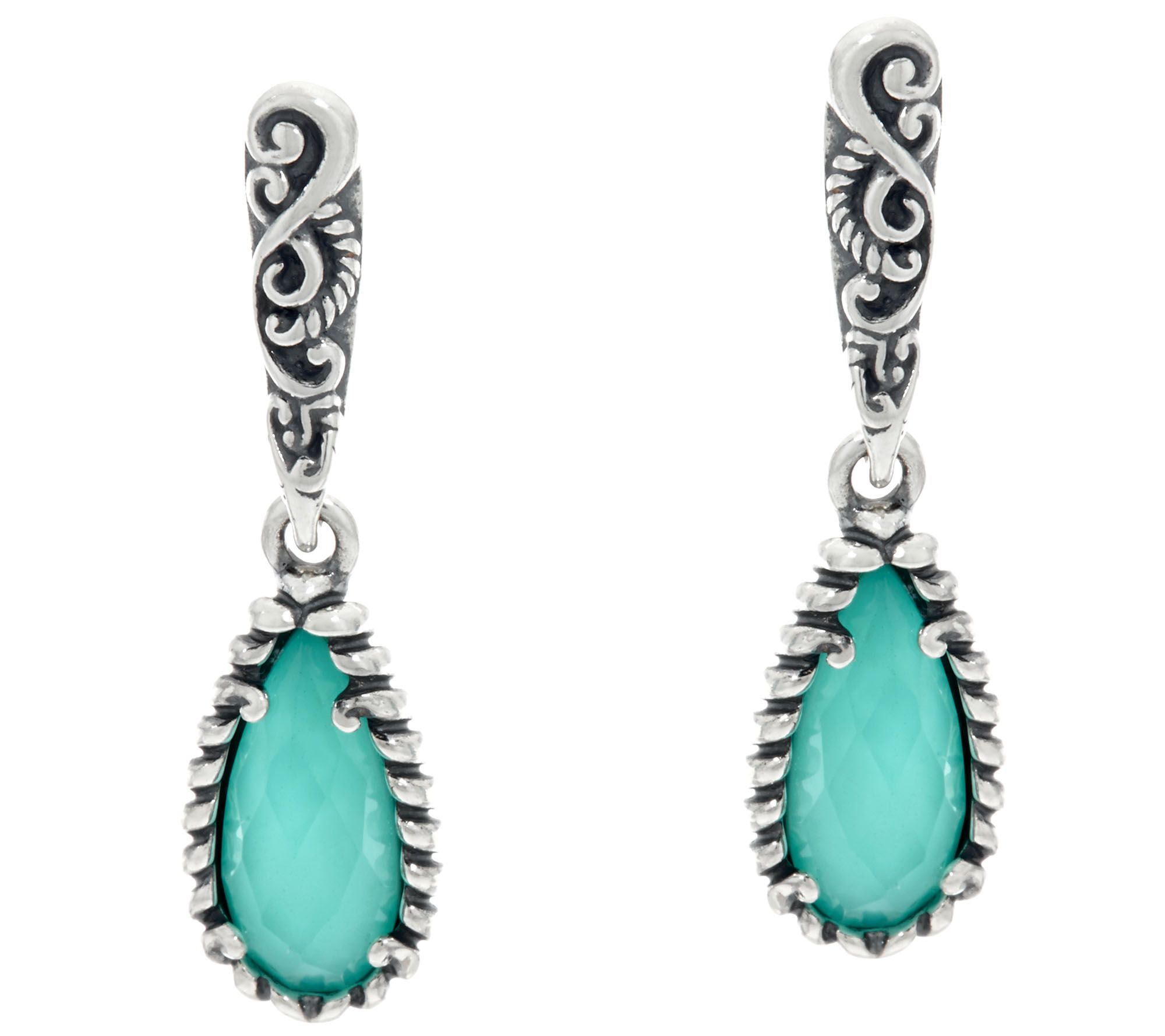 Carolyn Pollack Empress Sterling Silver Gemstone Earrings  Page 1 — Qvc