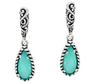 Carolyn Pollack Empress Sterling Silver Gemstone Earrings - J334319