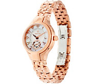 Philip Stein Rosetone Steel Bracelet Classic Round Mini Watch - J334819