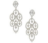 Judith Ripka Sterling Diamonique Drop Earrings - J338119