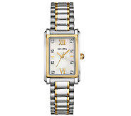 Bulova Womens Stainless Steel Two-Tone CrystalBracelet Watch - J339019