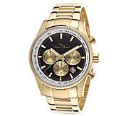 Lucien Piccard Mens Camelot Chronograph Goldtone Watch - J339119