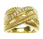 Judith Ripka Sterling 14K-Clad Intertwined Multi-Row Ring - J339419