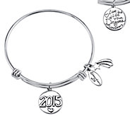 Sterling Expandable Graduation Bangle by Extraordinary Life - J339519