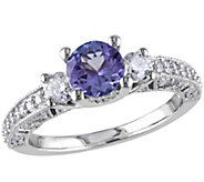 Tanzanite & Diamond Ring, 14K White Gold - J341619