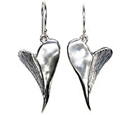 Hagit Sterling Contemporary Heart Earrings - J341819