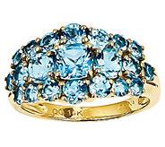Gemstone Cluster Band Ring, 14K Yellow Gold - J342219