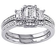 1 cttw Emerald Diamond Bridal Set, 14K Gold byAffinity - J342619