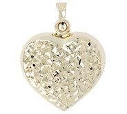 Dieci Reversible Heart Pendant, 10K Gold 1.3g - J344419