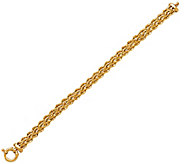 EternaGold 7 Triple Row Woven Rope Bracelet, 14K Gold, 4.6g - J345519