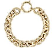 Arte dOro 8 Bold Oval Rolo Link Bracelet, 18K28.0g - J345619