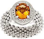 Italian Silver 1.55ct Citrine Ring, Sterling - J346219