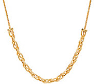 Vicenza Gold 18 Textured Oval Link Necklace, 14K, 4.6g - J347419