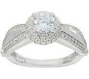 Diamonique 7/10 ct Round Bridal Ring, Sterling - J349919