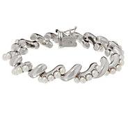 As Is Honora Cultured Pearl Sterling San Marco Bracelet - J351919