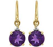 14K Gemstone & Diamond Accent Dangle Earrings - J375019