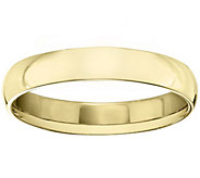 Mens 14K Yellow Gold 4mm Half Round Wedding Band - J375419