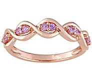0.30 cttw Pink Sapphire Infinity Ring, 14K RoseGold - J376119