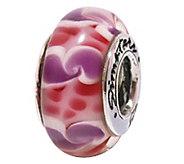 Prerogatives Sterling Pink Swirl Glass Bead - J109220