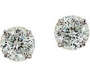 Diamonique 4.00 ct tw 100-Facet Stud Earrings,1 4K Gold - J110220