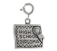 Sterling High School Diploma Charm - J113820