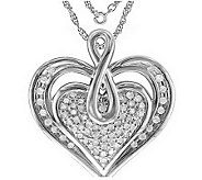 Heartistry Diamond Pendant, 14K, 1/3 cttw, by Affinity - J113920