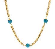 Bronze 36 Turquoise Bead Byzantine Necklace by Bronzo Italia - J293020