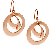 RLM Bronze Twin Hoop Mobile Dangle Earrings - J293820