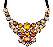 Joan Rivers Crystal Mosaic 18 Bib Necklace w/3 Extender - J294520