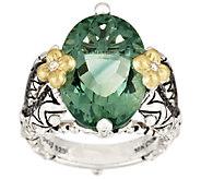 Barbara Bixby Sterling & 18K Fluorite & Garnet Solitaire Ring - J296720