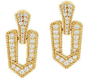 Judith Ripka Sterling & 14K Clad 1.25 ct Diamonique Earrings - J296820