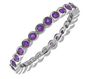 Simply Stacks Sterling Bezel Amethyst EternityStackable Ring - J298620