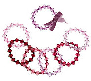 Set of 7 Faceted Bead Stretch Bracelets by Garold Miller - J307220