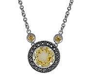 Suspicion Sterling Macasite Gemstone Necklace - J308520