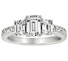Epiphany Diamonique 3.40 ct tw Three-Stone Ring
